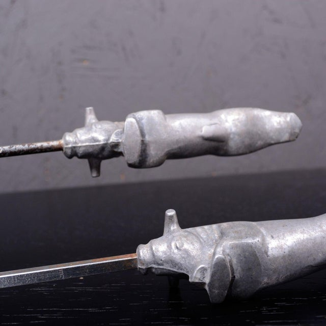 Silver Mid Century Modern Italy Sculptural Steer Skewers Bull Design 1960s For Sale - Image 8 of 9