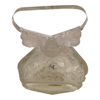 Czech Glass Frosted Perfume Bottle For Sale