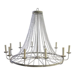 Napoli Style 'Aiden' Gray Draped Transparent Chandelier For Sale