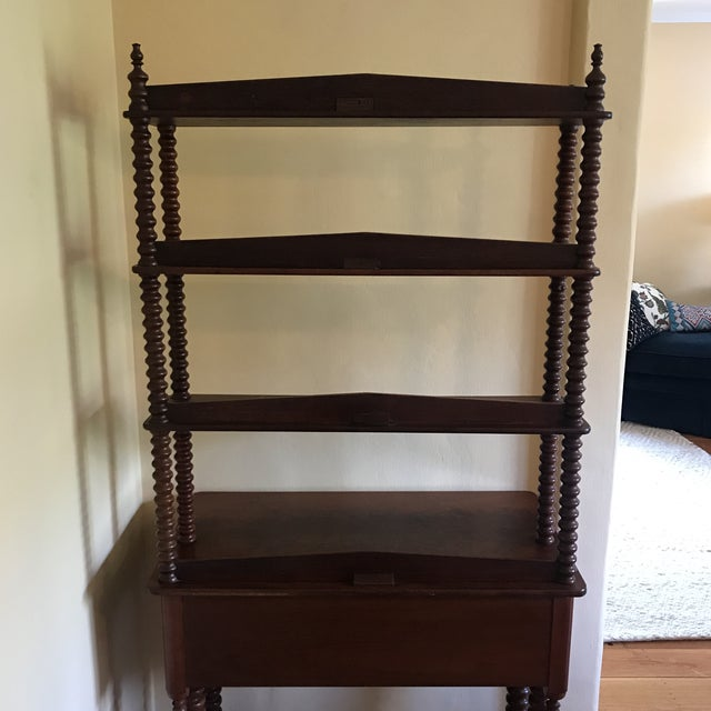 Late 19th Century Late 19th Century Antique Spool Turned Desk Etagere For Sale - Image 5 of 13