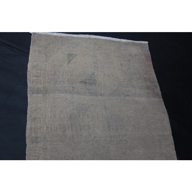 """Wonderful Muted Color Rug - 1'10"""" x 3'5"""" For Sale In Baltimore - Image 6 of 8"""