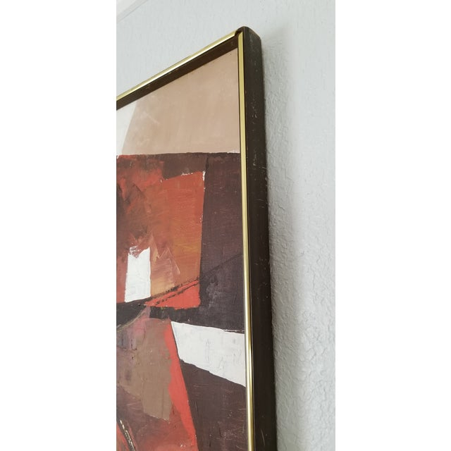 Mid-Century Acrylic on Canvas Painting by Palilo. For Sale - Image 9 of 13