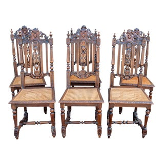 French Dining Chairs - Set of 6 For Sale