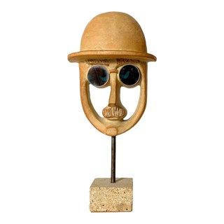 1970's David Gill Bennington Potters Face Sculpture For Sale