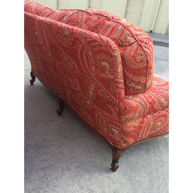 Textile Modern French Style Loveseat For Sale - Image 7 of 8