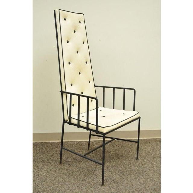 Mid-Century Modern Vintage Mid Century Modern Wrought Iron Arthur Umanoff Paul McCobb Arm Chair For Sale - Image 3 of 11