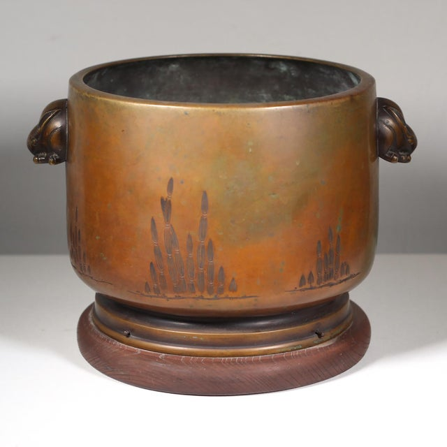 Late 19th-C. Japanese Bronze Hibachi - Image 2 of 3