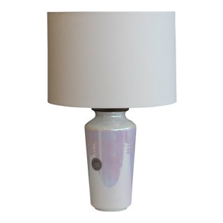 Modern Style Cambridge Glass Table Lamp For Sale