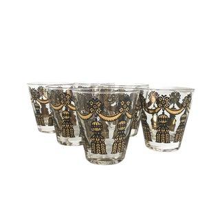 Set of 6 Mad Men Tassled Lowball Glasses For Sale