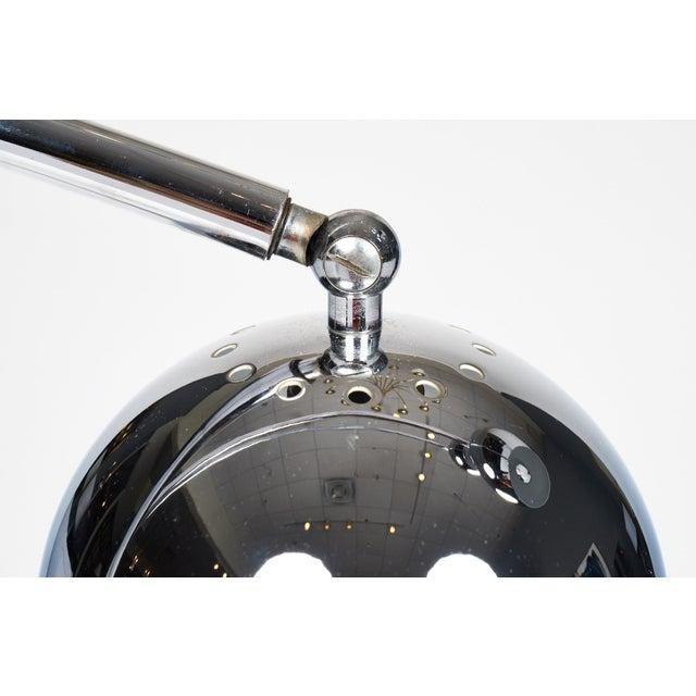 Carrara Marble Guzzini Mid-Century Chrome Arc Floor Lamp For Sale - Image 7 of 10