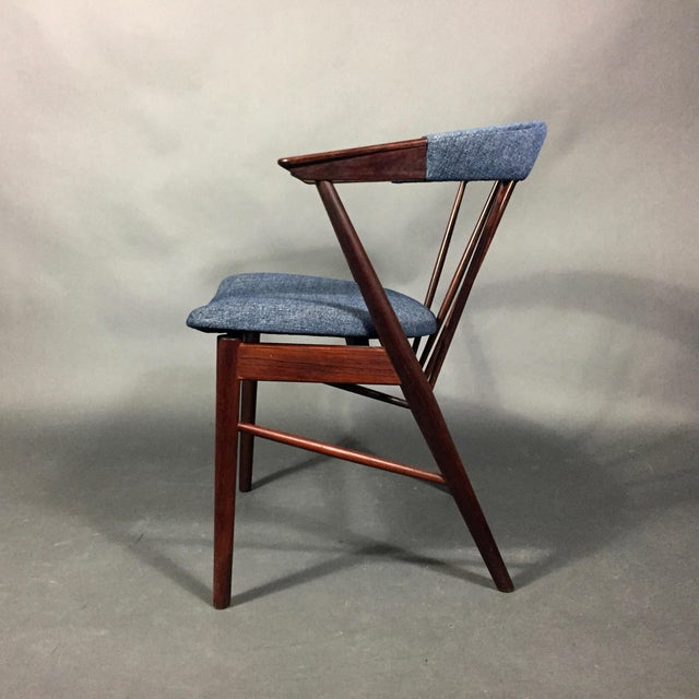 Mid-Century Modern Rosewood Spindle-Back Armchair, Helge Sibast, Denmark 1950s For Sale - Image 3 of 10
