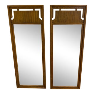 Tall Vintage Mid-Century Mirrors - a Pair For Sale