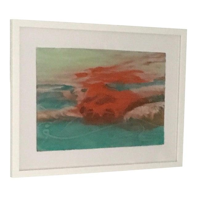 """Carol Bennett """"Suspense Study"""" Figurative Swimmer Artwork on Paper, 2017 For Sale"""