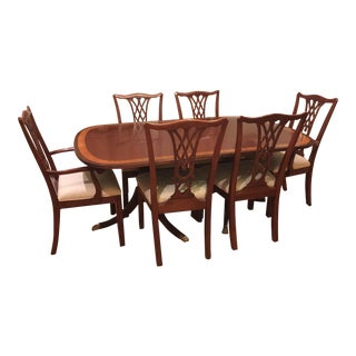 Traditional Ethan Allen Dining Set - 7 Pieces For Sale