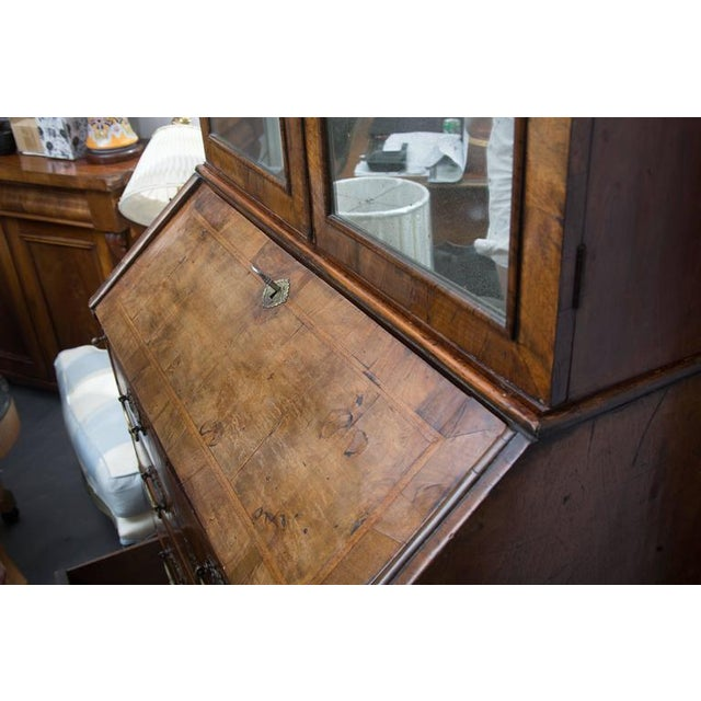 18th Century English Walnut Cottage Secretary For Sale - Image 9 of 10