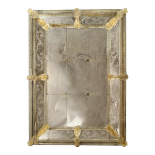 Italian Murano Etched Wall Mirrors For Sale
