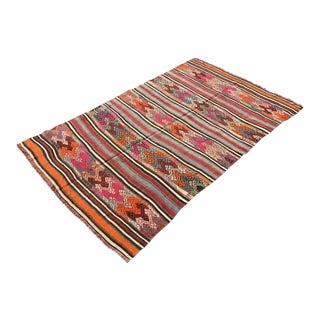 Striped Turkish Kilim Rug For Sale