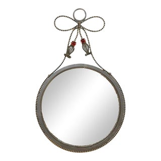 Postmodern Rope Edge Wall Mirror, 1990s For Sale
