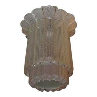 French Art Deco Chandelier by Sabino For Sale