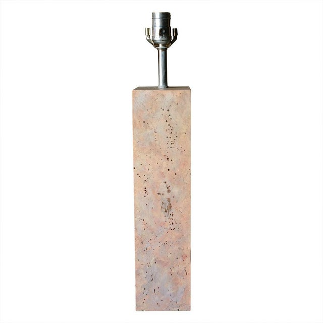 Modernist Stone Composite Lamp - Image 3 of 5