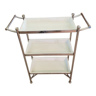 Contemporary Chrome and Powder Coated Rack For Sale