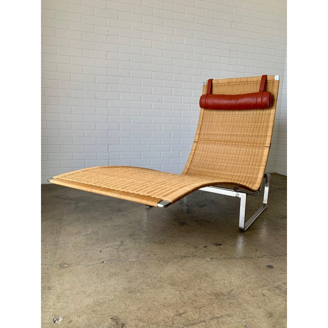 Poul Kjærholm Pk 24 Chaise Lounge With Wicker Seat for Fritz Hansen For Sale In Los Angeles - Image 6 of 12