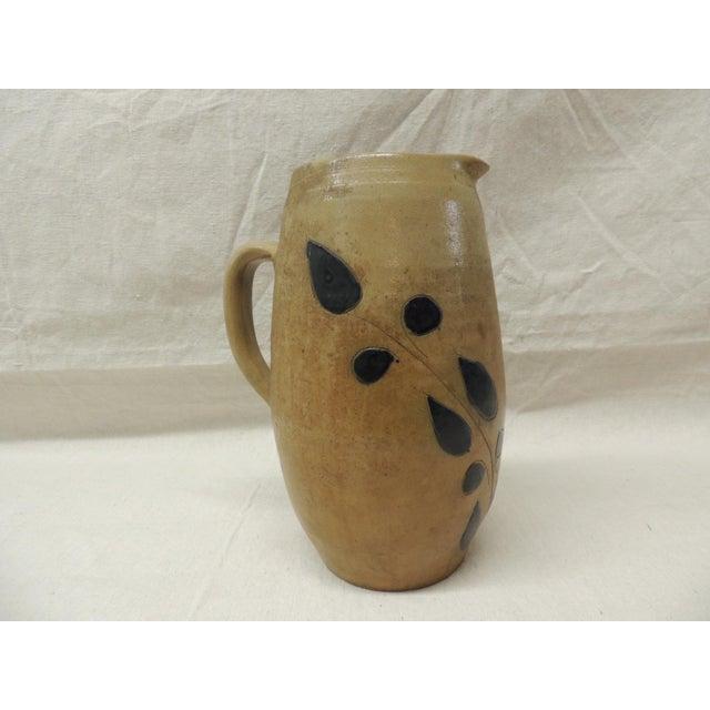 Vintage Glazed Stoneware Pitcher - Image 2 of 4