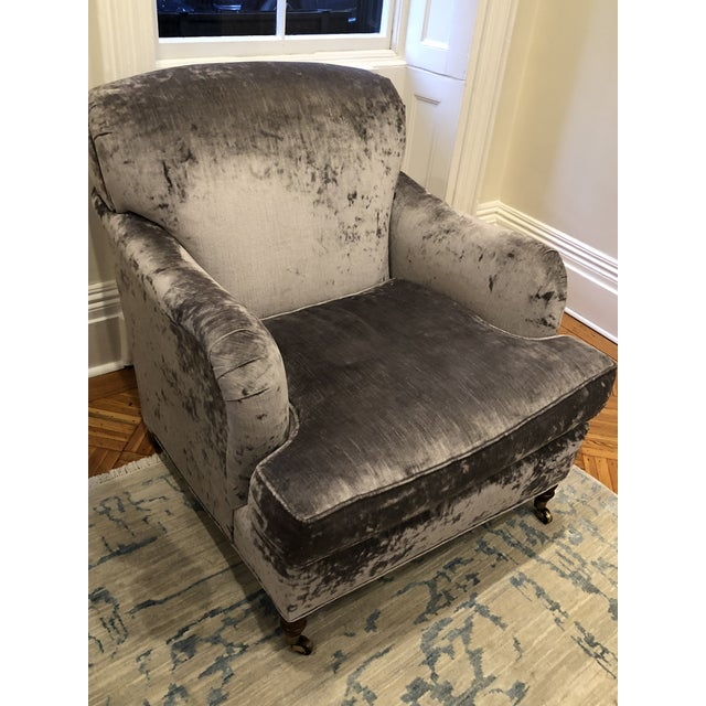 Oversized Lee Industry Upholstered Chairs - A Pair - Image 6 of 10