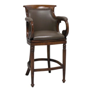 Hancock & Moore Jockey Club Swivel Bar Stool 115-30 2 For Sale