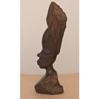 1960s Vintage Rosewood African Woman Female Bust Sculpture Preview