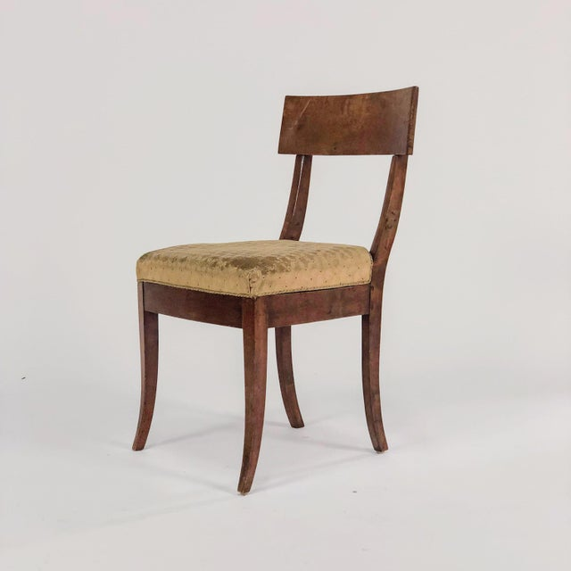 Traditional 19th Century Traditional Klismos Birch Dining Chairs - Set of 5 For Sale - Image 3 of 8