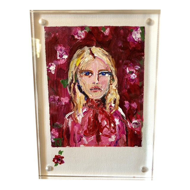 """JJ Justice """"Blonde Beauty"""" Painting For Sale"""