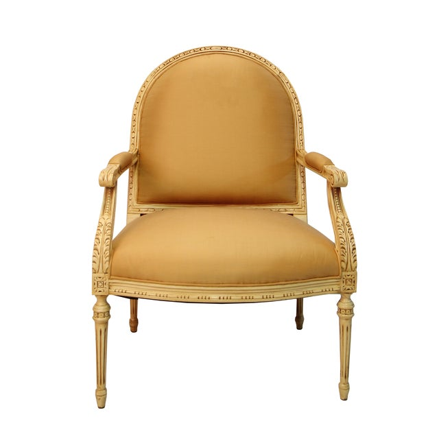 Cream Colored Accent Arm Chair - Image 1 of 3