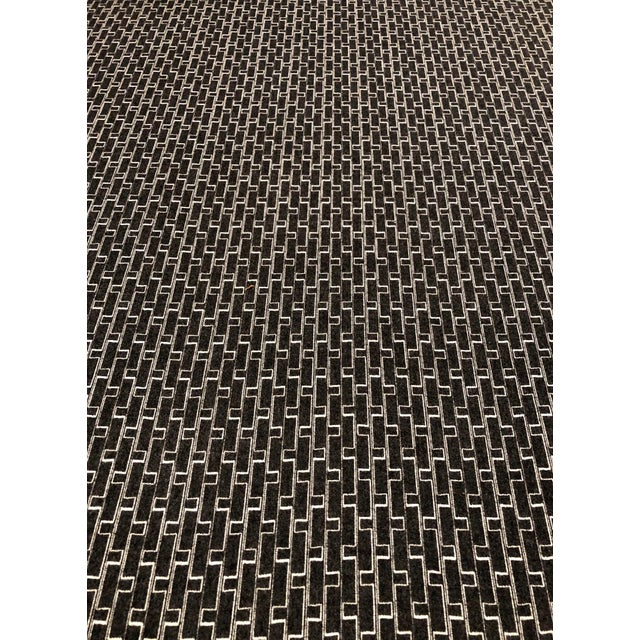 2010s Holland + Sherry Django - Modern Obsidian 100% Wool Black and White Multipurpose Fabric - 8.5 Yards For Sale - Image 5 of 5