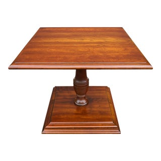 Pennsylvania House Solid Cherry Square Pedestal Side Table For Sale