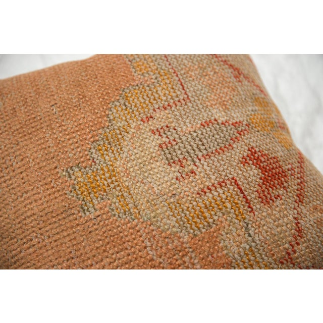 Old New House Vintage Turkish Rug Fragment Throw Pillow For Sale - Image 4 of 6