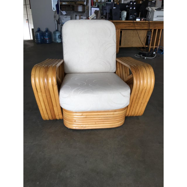 Restored Six-Strand Rattan Sofa and Lounge Chair Set - 2 Pc. For Sale - Image 9 of 11