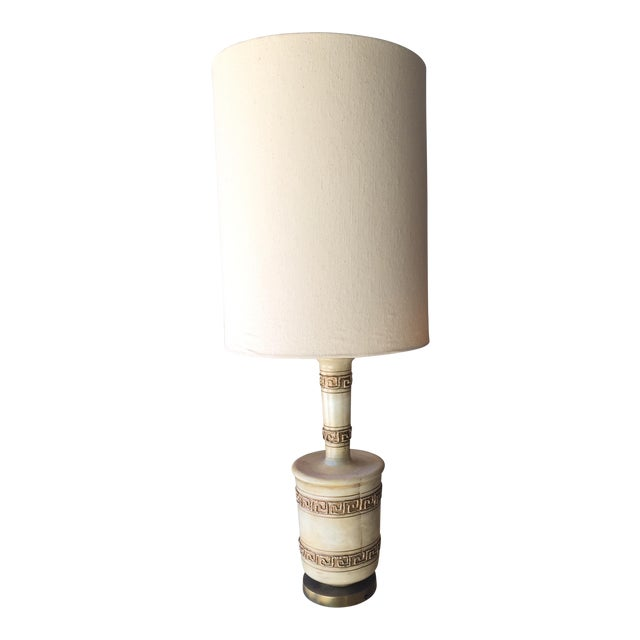 1960's Mid-Century Modern Ceramic Table Lamp With Shade - Image 1 of 4