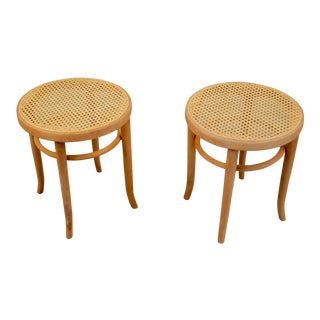 1930s Vintage Thonet Bentwood Stools - a Pair For Sale
