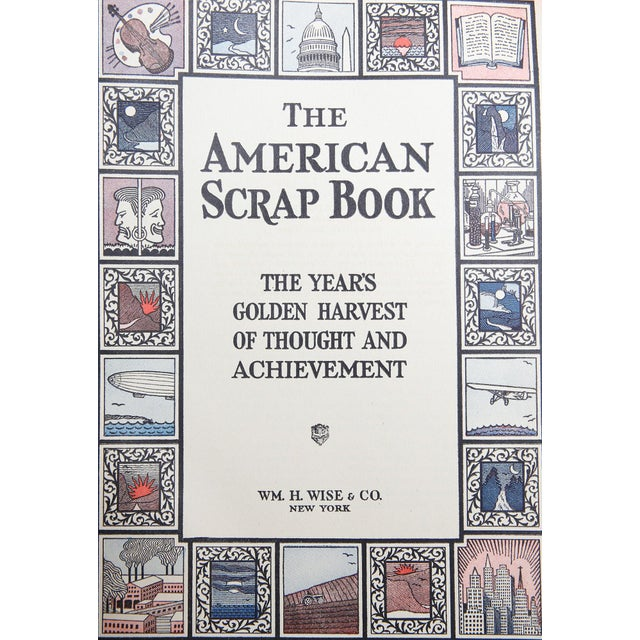"""Traditional 1928 """"The American Scrap Book, 2 Vols"""" Coffee Table Book For Sale - Image 3 of 6"""
