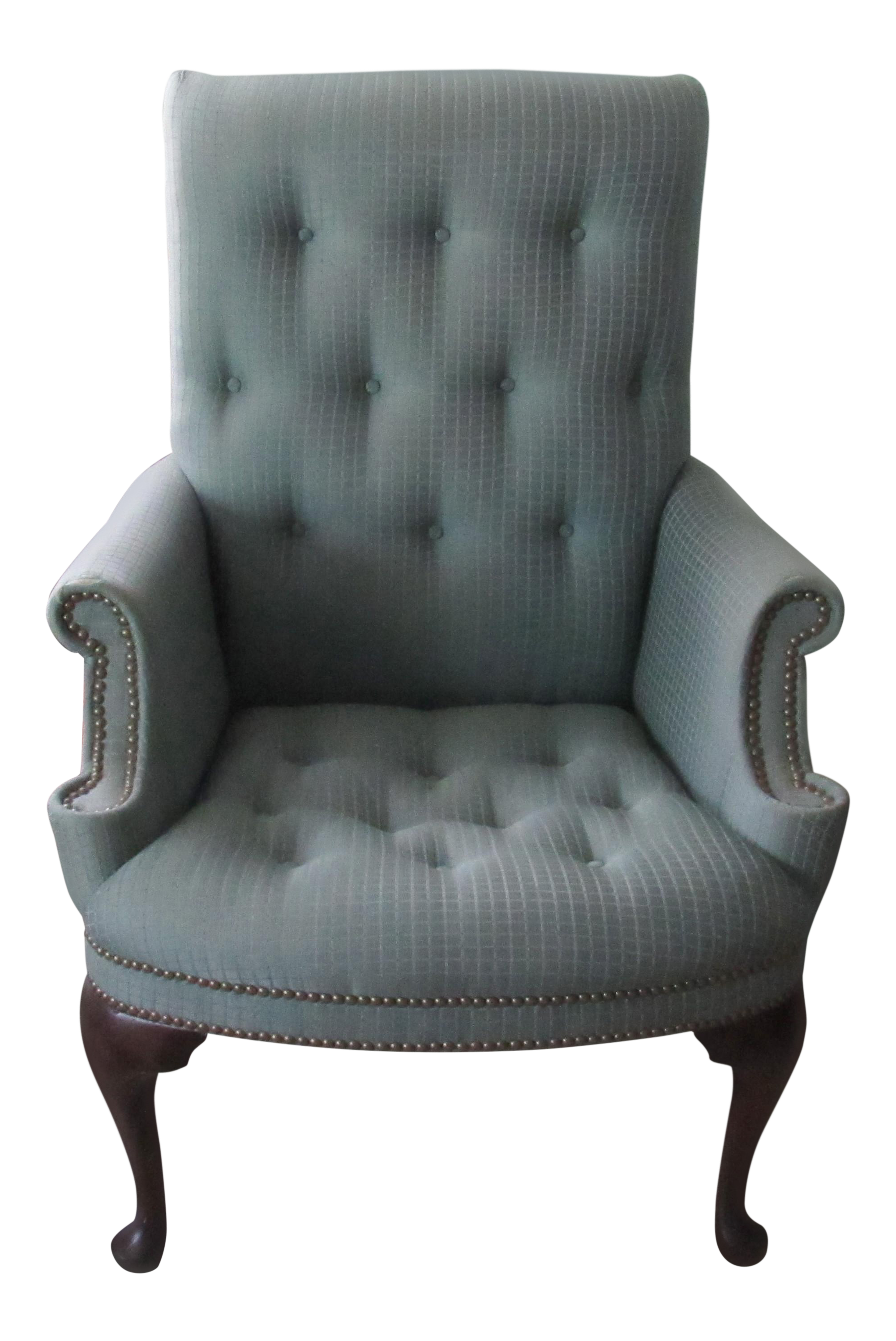 Vintage Louis XVI Style Victorian Bergere Chair