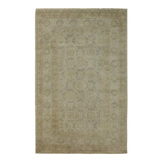 Traditional Beige Hand Knotted Soft Palate Area Rug - 9' x 12'