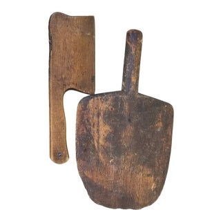 French Herb Chopper and Cutting Board For Sale