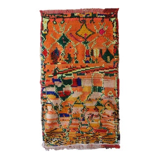1970s Abstract Moroccan Berber Rug For Sale