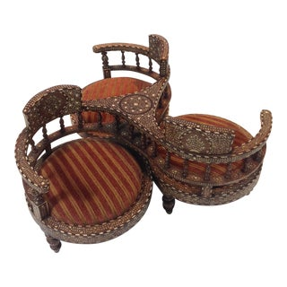 Tete-A-Tete Morrocan Chairs For Sale