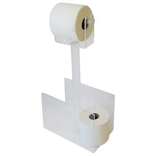 1970s Modern Magazine Holder Rack and Toilet Tissue Holder For Sale