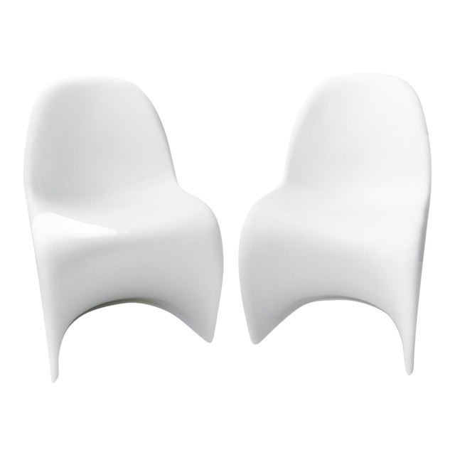 The Panton Chairs for Vitra - a Pair For Sale
