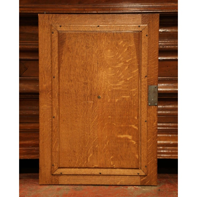 Mid 19th Century 19th Century French Henri II Carved Oak Cabinet Door With High Relief Carvings For Sale - Image 5 of 6