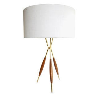 Gerald Thurston Mid-Century Tripod Table Lamp