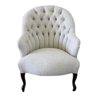 Late 19th Century Napoleon III Style Button Tufted Chair For Sale